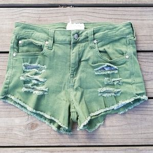 Altar'd state high waisted distressed shorts